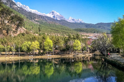 In the shadow of Yulong Snow Mountain: Yuhu Village
